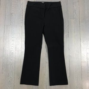 LOFT Petites 0P Black Kick Crop Ankle Flare Pants